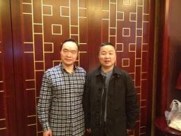 著名影视明星吴军与公司总经理孙晓华留影